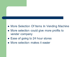 Are Vending Machines Profitable Enchanting VENDING MACHINES Disadvantages Of Vending Machines Ppt Download