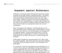 euthanasia argumentative essay thesis coursework custom  euthanasia argumentative essay thesis