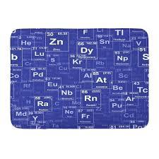 periodic table rug chemistry bath area