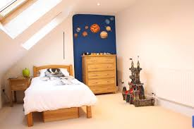 kids bedrooms simple. Bedroom : Simple Kids Room With White Comfort Bed Feat Wood Headboard And Small Brown Nightstand Also Dresser Under Modern Sloped Ceiling Bedrooms W