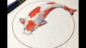 real time watercolor painting koi fish 10 minute watercolor