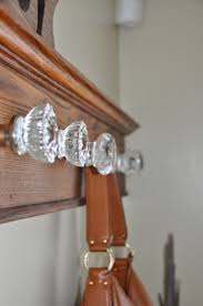 Glass Door Knob Coat Rack Beauteous Before After Glass Doorknob Coat Rack Our Fine House