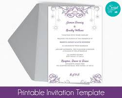 snowflake invitation template free color change diy edit text best of wedding templates free