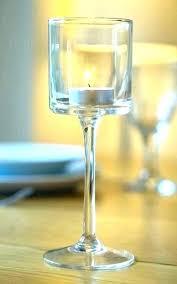 stemmed votive candle holders amazing long stem tealight and glass floating holder