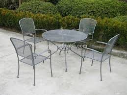 metal mesh patio table and 4 chairs