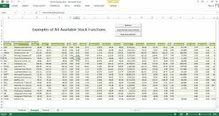 Microsoft Stock Quote Adorable Stock Quote Free Excel Template Excel Templates For Every Purpose