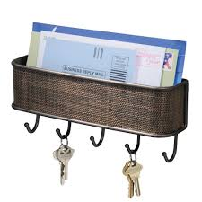 Amazon.com: InterDesign Twillo Mail, Letter Holder, Key Rack Organizer for  Entryway, Kitchen - Wall Mount, Bronze: Home & Kitchen