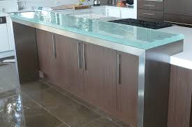 view in gallery glass countertops add instant sheen to the stylish kitchen