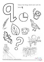 Small Picture Letter Q Colouring Pages