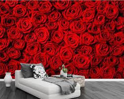 Beibehang Custom wallpaper red rose ...