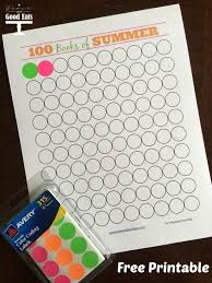 Reading Chart Free Printable 100 Books Of Summer Summer