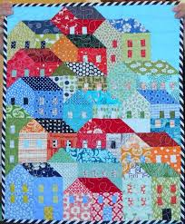 You have to see Mini Hillside Houses quilt by HappyFabric! | House ... & You have to see Mini Hillside Houses quilt by HappyFabric! Adamdwight.com