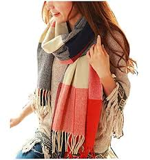 Loritta <b>Womens Scarf</b> Fashion Long <b>Plaid</b> Shawls Wraps Big Grid ...