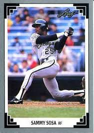 Rookie cards, autographs and more. 1991 Leaf Sammy Sosa Chicago White Sox 321 Baseball Card For Sale Online Ebay
