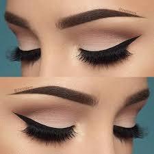 neutral eyeshadow winged liner