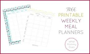 Sample Meal Planning Template Free Documents In Intended For Weekly ...