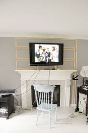edge of the mantel wall mounted tv