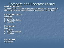 compare and contrast essays block arrangement introduction in 1 compare and contrast essays