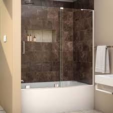 bathtub design frameless bathtub doors half glass shower door for trackless tubs tub enclosures dreamline aqua