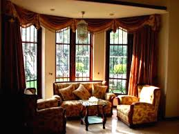 Window In Living Room Curtains For Bay Windows In Living Room Cute Angled Curtain Rod