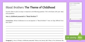 blood brothers plot character and quotation revision cards childhood la essay plan activity sheet activity sheet to support teaching on blood brothers by willy russell