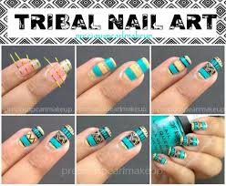 preciouspearlmakeup: Easy Tribal Nails and Tutorial