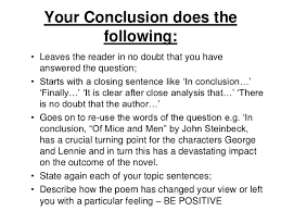 a conclusion for an essay examples co a conclusion