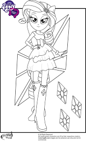 Small Picture My Little Pony Equestria Girl Coloring Pages Games Coloring