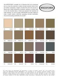Brickform Acid Stain Color Chart Brickform Color Chart Sealant Depot Inc
