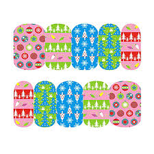 Xmas Candy Holly Theme Christmas Nail Art Stickers Water Transfer ...