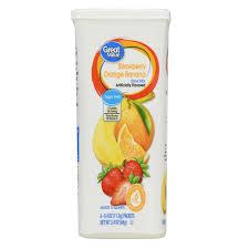 Crystal Light Drink Mix Strawberry Orange Banana 12 Pack Great Value Drink Mix Strawberry Orange And Banana Sugar Free 2 4 Oz 72 Count