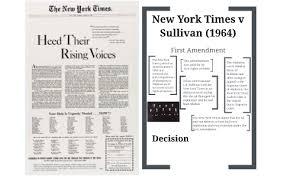New York Times V Sullivan New York Times V Sullivan 1964 By Caroline Coulter On Prezi