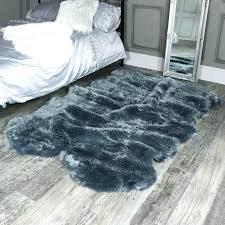 faux fur rug 8x10 or faux fur rugs large four pelt grey faux fur rug x