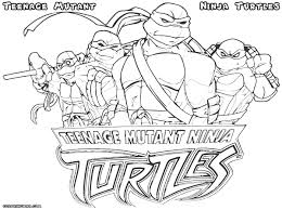 Free Printable Teenage Mutant Ninja Turtles Coloring Pages In