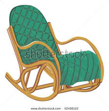 rocking chair clipart. Picture Of A Padded Rocking Chair In Vector Clip Art Illustration Clipart S