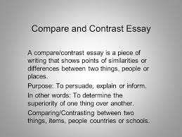 power writing technique you are going to your spring break you ve  compare and contrast essay a compare contrast essay is a piece of writing that shows