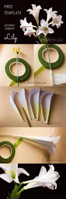 How To Make Paper Easter Lily Flower Free Template