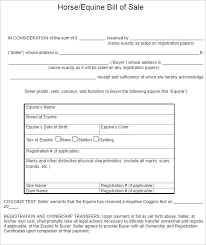 Equine Bill Of Sales 26 Bill Of Sale Texas Pdf Templates Free Word Doc Examples