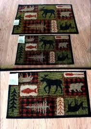 mohawk plush lodge collage rubber backed kitchen bathroom rug