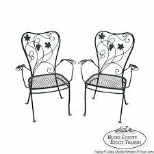 salterini wrought iron furniture. Salterini Vintage Pair Wrought Iron Garden Patio Arm Chairs Furniture