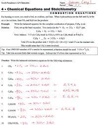 chemistry worksheet balancing equations part 2