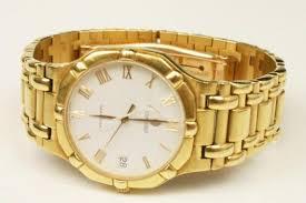 mens 18k yellow gold concord saratoga watch image 3 mens 18k yellow gold concord saratoga watch