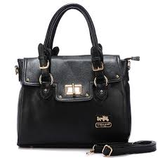 Coach Sadie Flap In Spectator Medium Black Satchels AOK