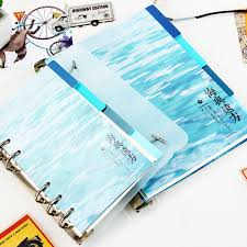 <b>A5 A6 6 Holes</b> whale Colored Notebook Loose Leaf Paper ...