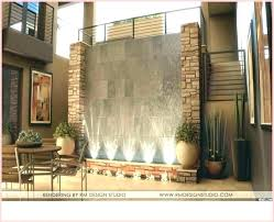 wall water features indoor waterfall office feature fountains makeovers home diy wat