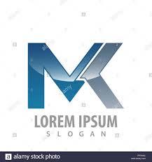 Mk Logo Design Vector Technology Mk Letter Logo Concept Design Symbol Graphic
