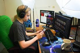 james copsey 22 sets up his twitch livestream as he gets ready to play