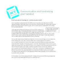 Fundraising Plan Template Fundraising Campaign Plan Template Example Political