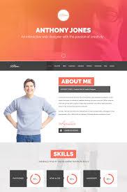 Resume Web Template 13 Resumex Multipurpose One Page Portfolio