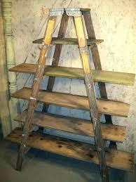 marks and spencer step ladder bookcase white shelving unit raw oak rustic shelves storage shelf b